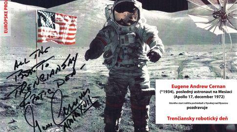 Eugene Cernan pozdravuje TRD